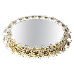 Palwa Mirror Mid-20th Century Illuminated Swarovski Crystal, Germany, 1970s