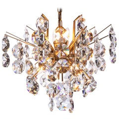 Sputnik Chandelier Swarovski Crystal & Gilt Brass by Palwa, Germany, 1960s