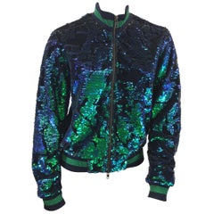 Pam & Gela Blue and Green Sequin Jacket