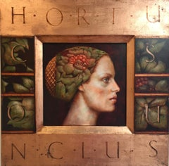 Hortus Conclusus- 21st Century Contemporary Portrait Painting of a Girl