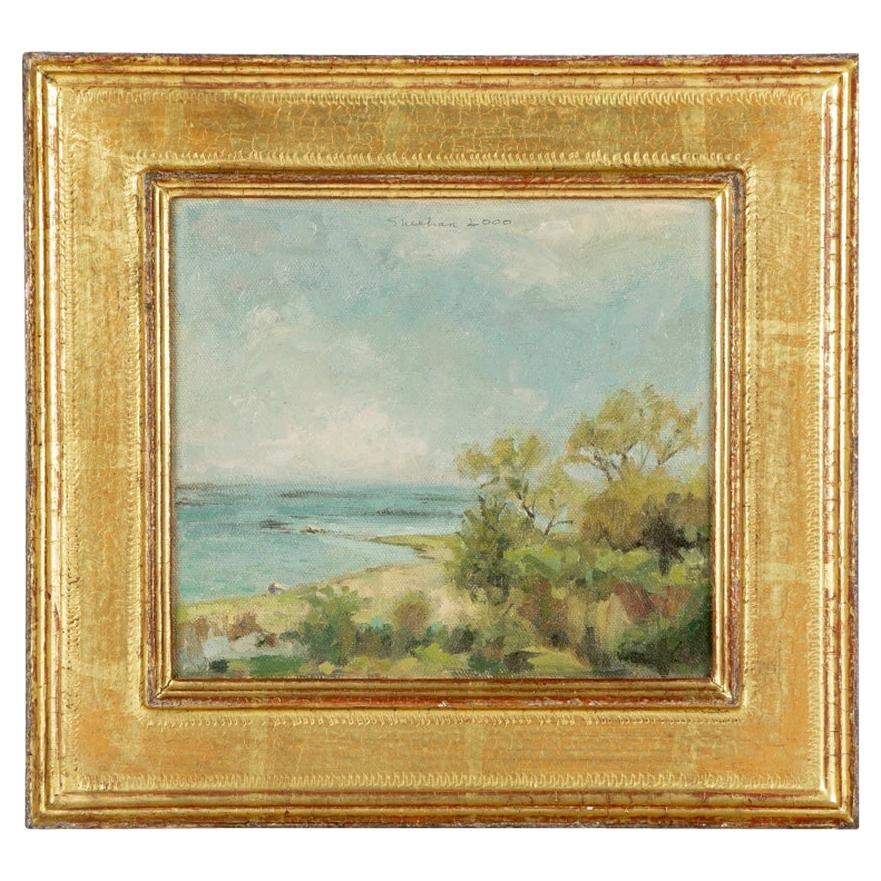 Pam Sheehan Am. B. 1956' Oil on Panel Coastal Landscape