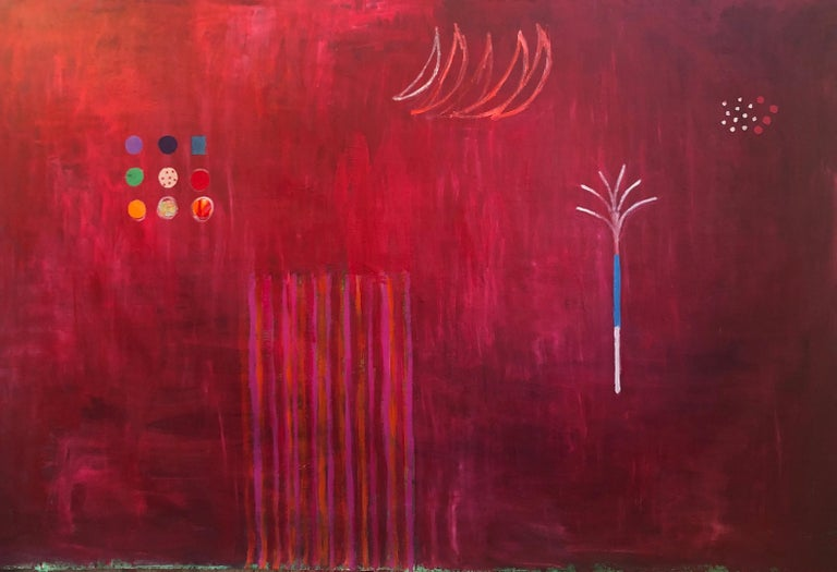 Red Tree - Mixed Media Art by Pam Smilow
