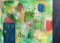 Heart and Home Large Mixed Media Contemporary Painting