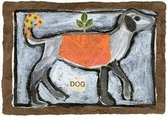 Small Orange Dog Animal Giclee Print