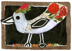 Pretty Bird Red Small Animal Giclee Print