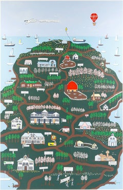 """Door County,"" Original Silkscreen Print by Pamela Bachman"