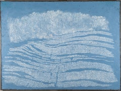 Blue Shore II, Pamela Burns abstract oil painting landscape