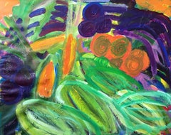 Abstract Colourful Vegetables, Oil Painting