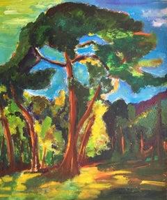 Expressionist Old Tree, Landscape, British Artist