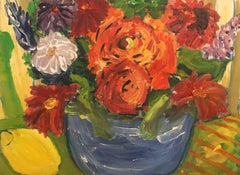 Flowers Close Up, Bright Colours, British Artist