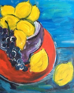 Fresh Lemons, Still Life, Bright Colours, Oil Painting