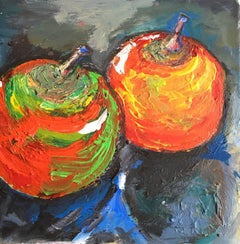 Impressionist Still Life of Two Apples, British Artist