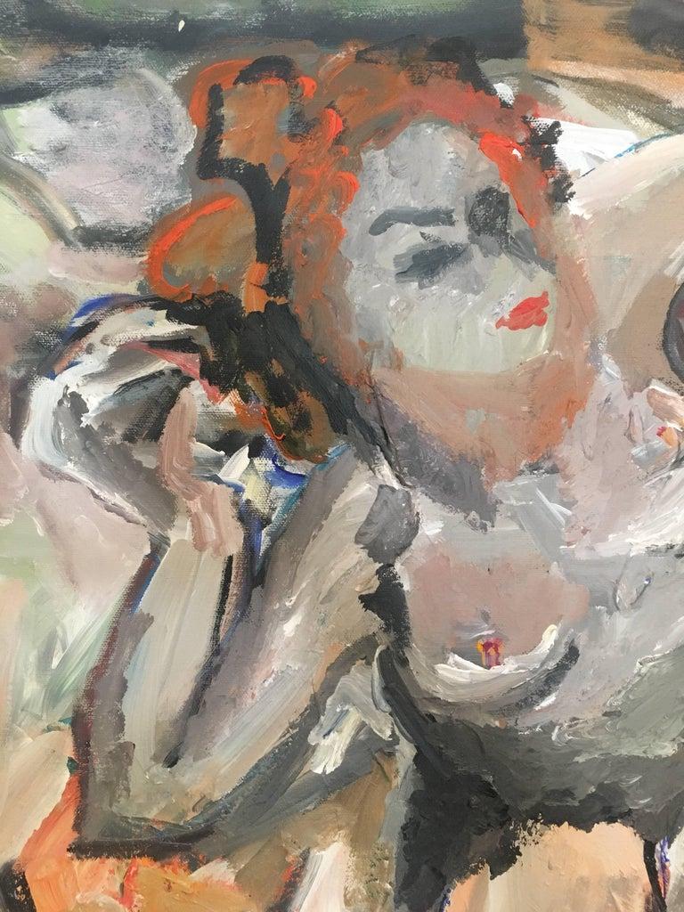 Nude Figure, Impressionist Oil Painting, British Artist For Sale 3
