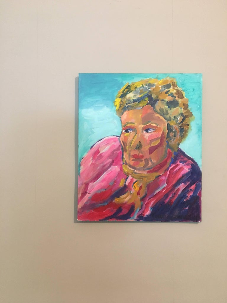 Portrait of Lady in Pink, British Artist - Painting by Pamela Cawley