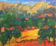 Provence Landscape Impressionist Oil Painting, British Artist
