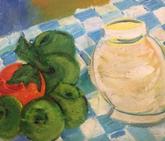 Tomatoes on a Table, Still Life, Oil Painting