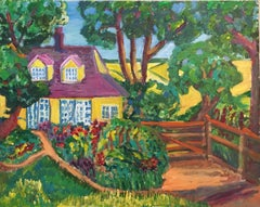 Yellow Cottage, Landscape, British Artist