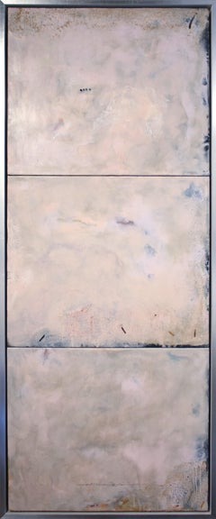 """""""Memoir"""" by Pamela Gibson, Encaustic abstract painting, 2019"""