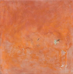 """""""Quintessence: Fire"""" by Pamela Gibson, Encaustic and feather on board, 2018"""