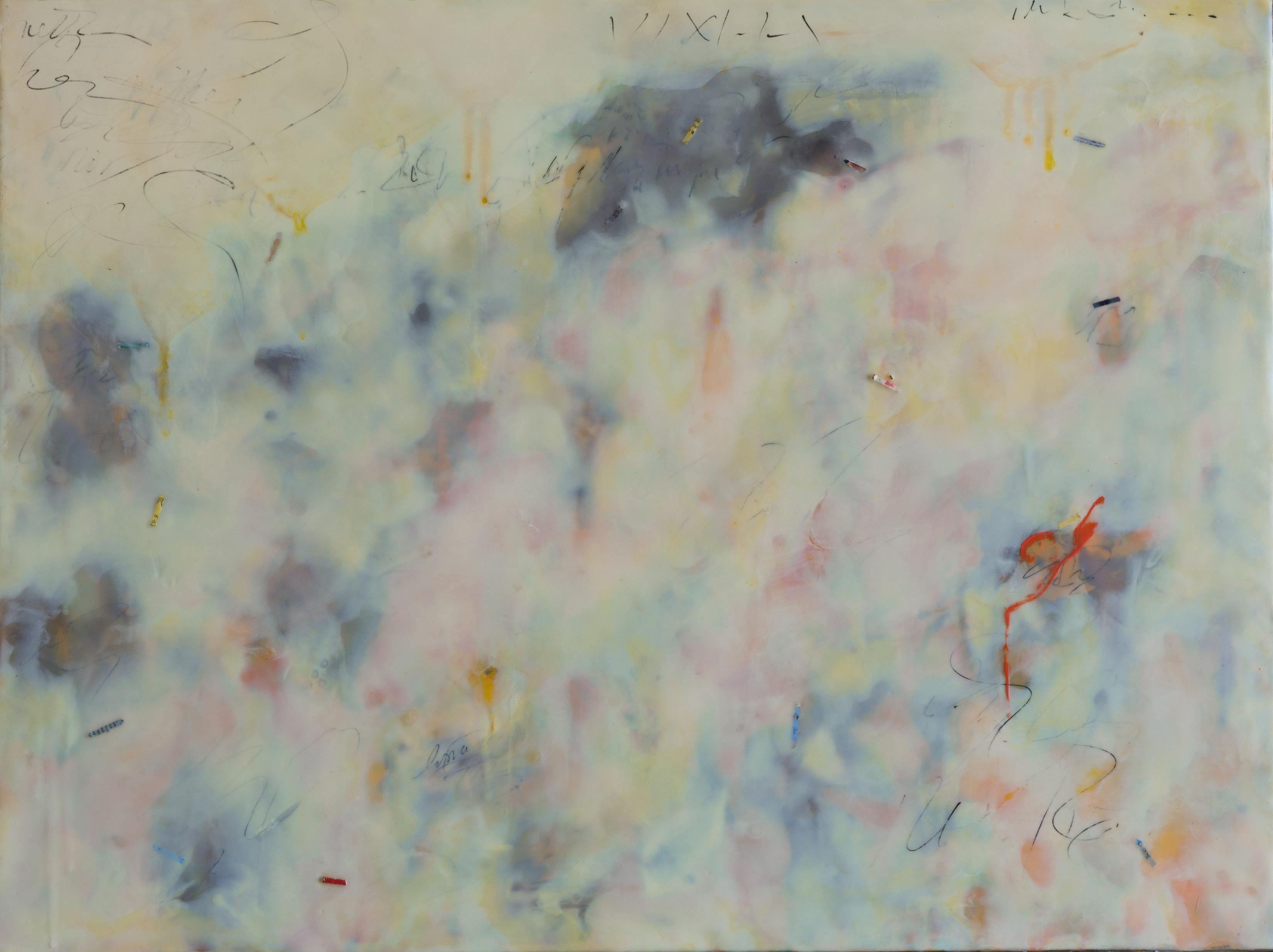 """""""Threshold"""" by Pamela Gibson, Encaustic and pigment on board, 2020"""