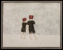 DISCOVERY - nostalgic painting of two children