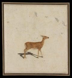 DOE - nostalgic painting of deer