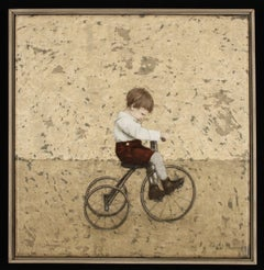 MOMENTUM- nostalgic painting of child on tricycle