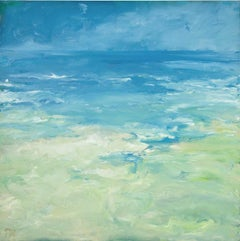 Oil painting 'Norfolk Seascape' by Pamela Noyes