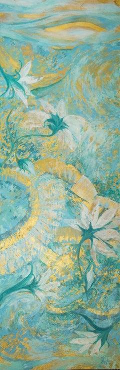 TAHITIAN SUNRISE, Painting, Acrylic on Canvas