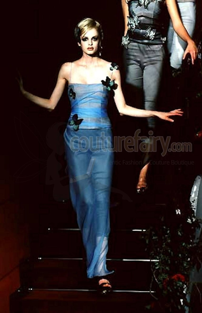 3272c567ee03 Pamela's Dolce & Gabbana 1998 Corset Butterfly Evening Gown Dress For Sale 2
