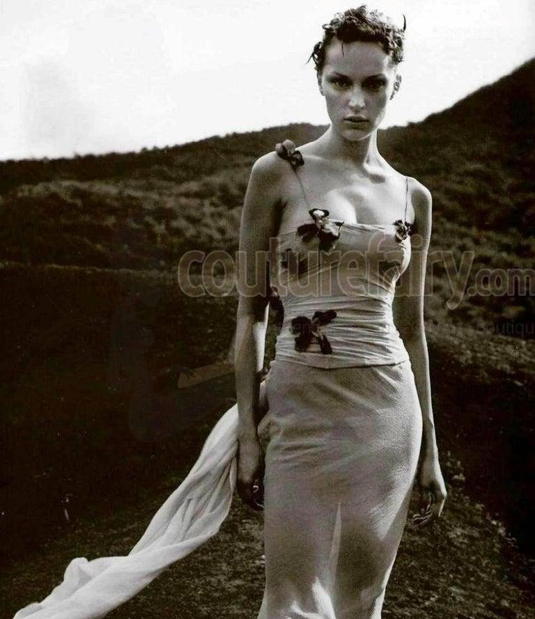 51499ba13c30 Pamela's Dolce & Gabbana 1998 Corset Butterfly Evening Gown Dress For Sale 4
