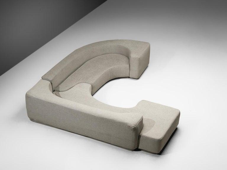 Mid-Century Modern Pamio, Massari & Toso 'Lara' Sectional Sofa