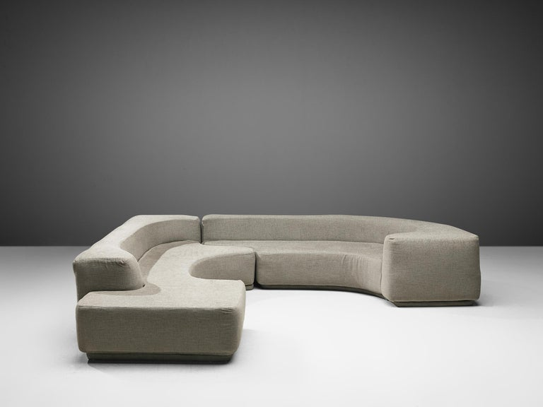 Pamio, Massari & Toso 'Lara' Sectional Sofa In Good Condition In Waalwijk, NL