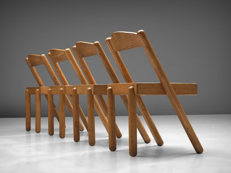 Mid-20th Century Pamio & Toso Set of 4 Dining Chairs Model 'Iva' in Ash