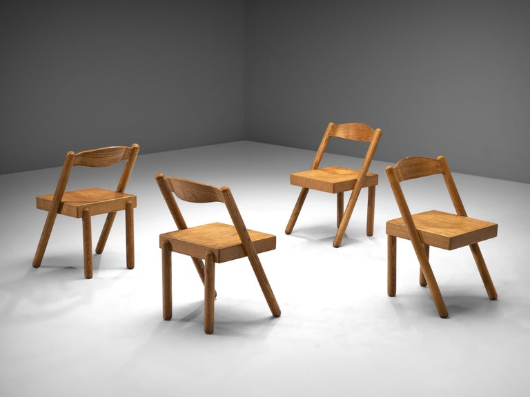 Pamio & Toso Set of 4 Dining Chairs Model 'Iva' in Ash 2
