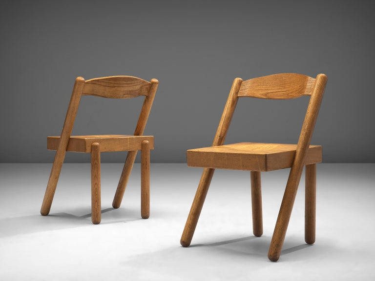 Pamio & Toso Set of 4 Dining Chairs Model 'Iva' in Ash 3