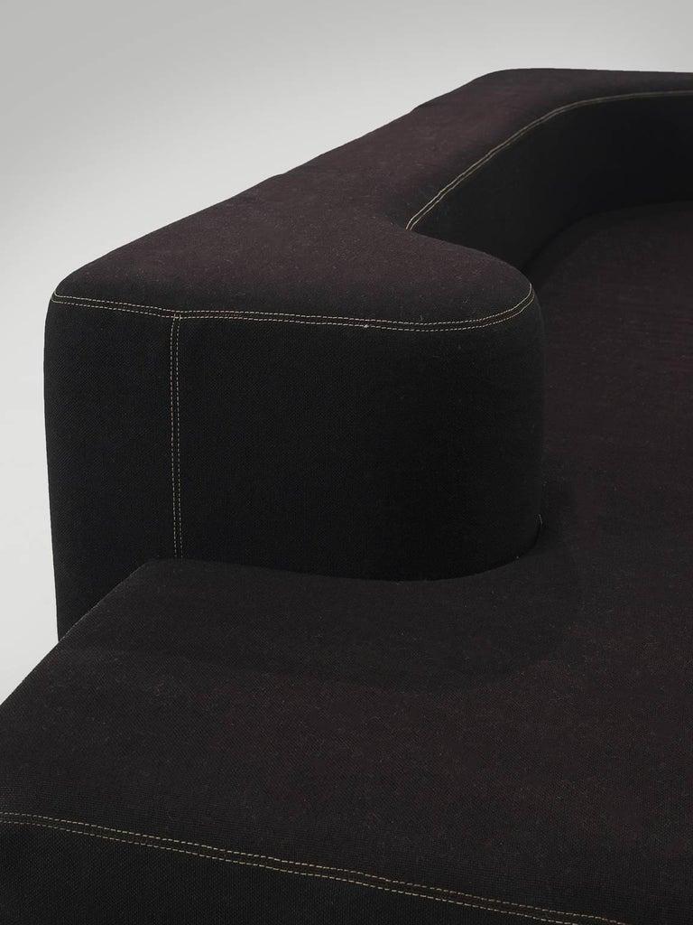 Pamio, Massari and Toso Black Modular 'Lara' Sofa For Sale 2
