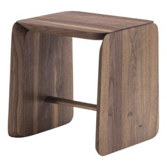 Pampa Stool in Solid Walnut Wood
