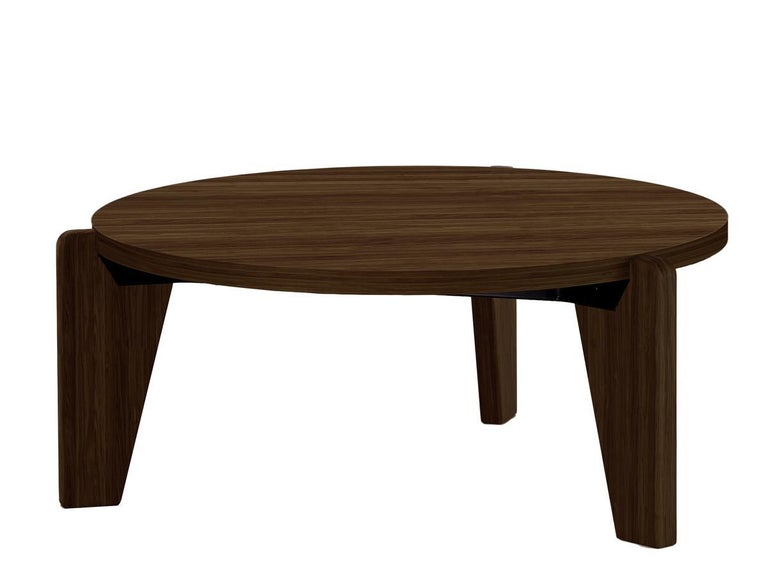 Jean Prouvé Guéridon Bas Coffee Table in Natural Oak for Vitra 3