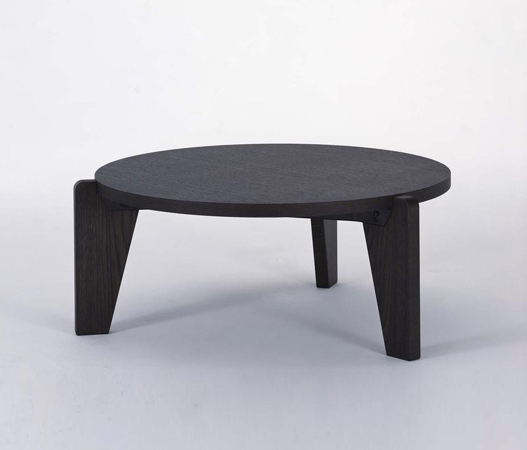Jean Prouvé Guéridon Bas Coffee Table in Natural Oak for Vitra 1