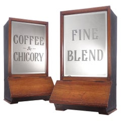 Pair of General Store Coffee Bean Dispensers