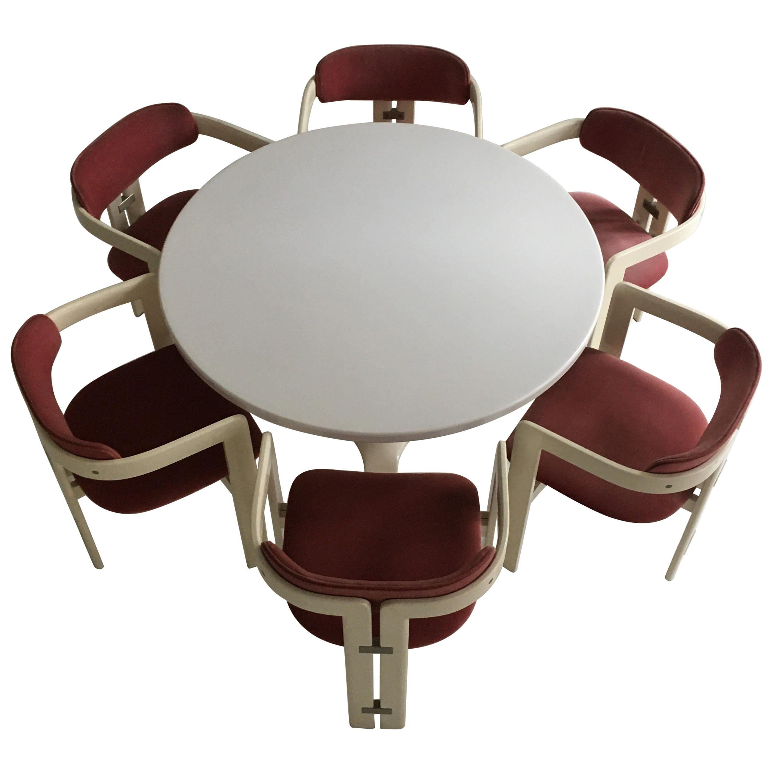 Pamplona Dining Chairs by Augusto Savini and Dining Table by Anna Castelli