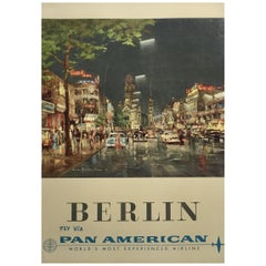 """Pan Am Berlin"", 1958 Travel Advertising Poster"