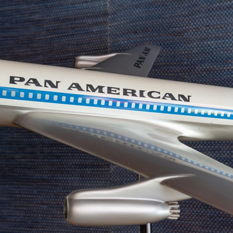 Mid-20th Century Pan Am Boeing 707 Model Aircraft, circa 1958 For Sale