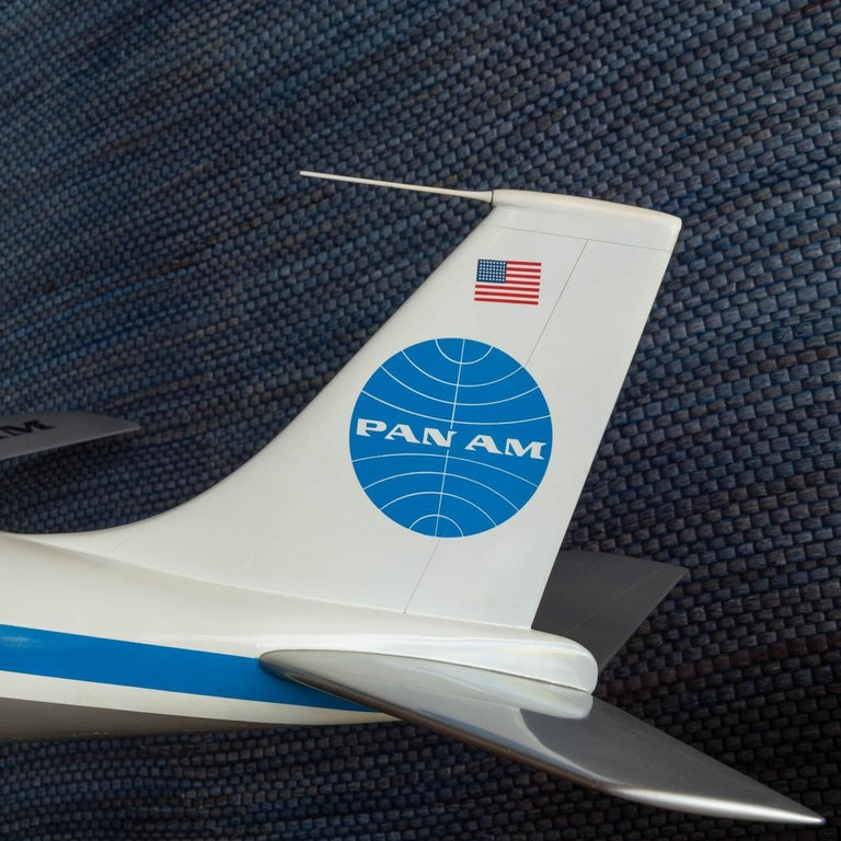 Steel Pan Am Boeing 707 Model Aircraft, circa 1958 For Sale