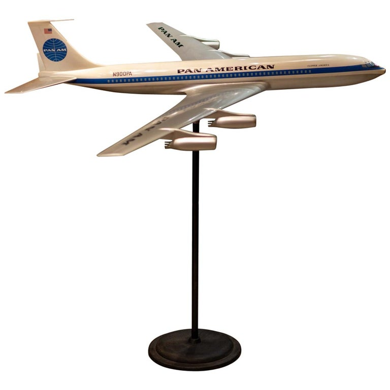 Pan Am Boeing 707 Model Aircraft, circa 1958 For Sale