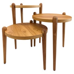 Pan Round Occasional Tables in Teak
