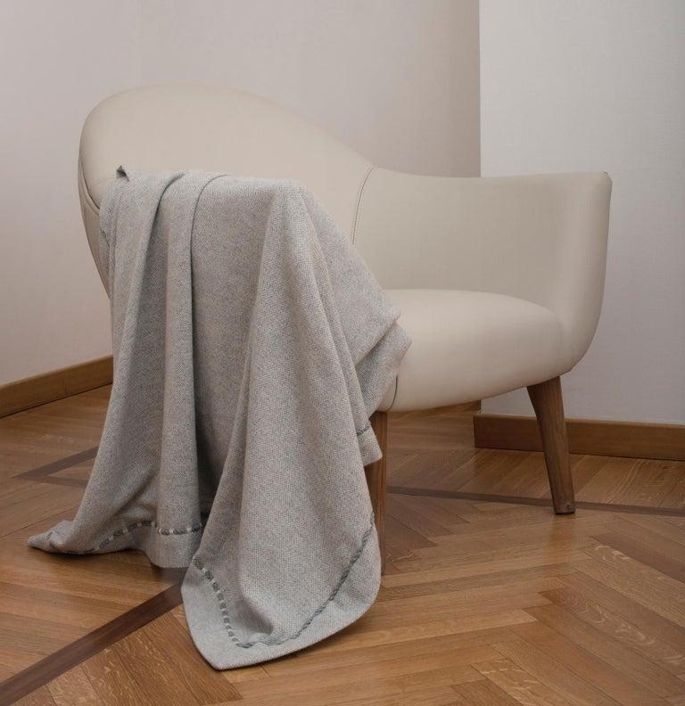 Italian Panama Cashmere Plaid For Sale
