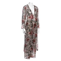 Pancaldi & B multicoloured floral silk chiffon lounge suit, c. 1990s