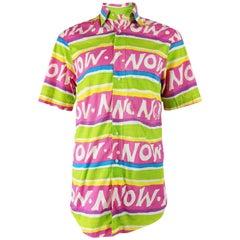 Pancaldi & B Vintage Mens Loud Print Shirt, 1980s